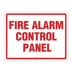 Maxwell SN-FIRE2 Fire Panel Sign - 11 x 8.5 - Red & White