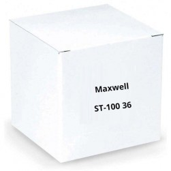 Maxwell ST-100 36 Black U-Channel aluminum stake with angle cut bottom and plastic safety cap (100 pk)