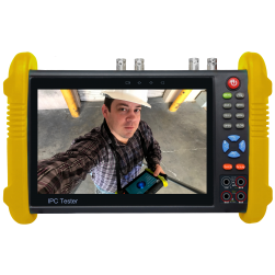 "SecurityTronix ST-ALLIN1-TEST2 7"" Field Monitor Test Meter For Analog, TVI, CVI, AHD, SDI & IP With Integrated Video Monitor & Multi-Meter"