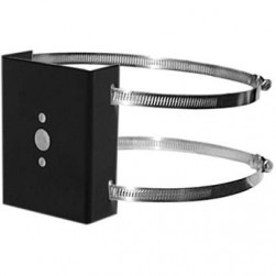 Pelco SWM-PA-BK Pole adapter with Stainless Steel Hardware, Black Finish