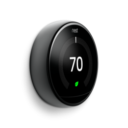 Google Nest T3018US Learning Thermostat 3rd Generation in Mirror Black