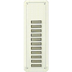 Alpha TBM11W 11 Buttons Only Panel-White-Flush