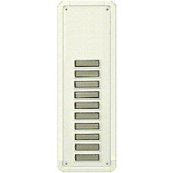 Alpha TBM10W 10 Buttons Only Panel-White-Flush