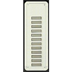 Alpha TBM12W 12 Buttons Only Panel-White-Flush