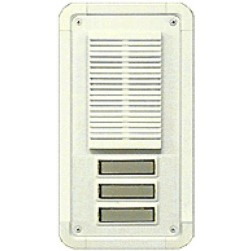 Alpha TT3WS 3 Button Entry Panel-White-Surface