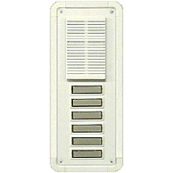 Alpha TT6WS 6 Button Entry Panel-White-Surface