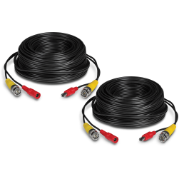 TRENDnet TV-DC102 2 Pack 30 m / 100 ft HD Video and Power BNC Cable