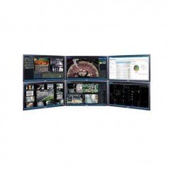 Pelco U1-OPS-WKS6-EUK VideoXpert Ultimate Work Station with 6 Monitors, EUK