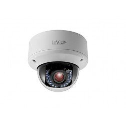 InVid ULT-P4DRIRM2812 4 Megapixel IP Plug & Play Outdoor IR Dome Camera, 2.8-12mm
