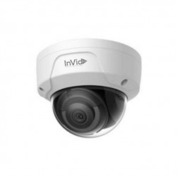 InVid ULT-P5DRIRA4 5 Megapixel IP Plug & Play Outdoor Rugged Dome Camera with Audio, 4mm Lens