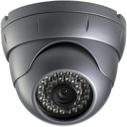 CNB VB2760NIR Outdoor Eyeball-Type IR Dome - 530TVL 6mm Fixed Lens, 35 LEDs, upto 80ft