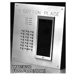 Alpha VI402-207D 207 Buttons VIP Panel with Built-In Alphabetical Directory, Less Flush Back Box