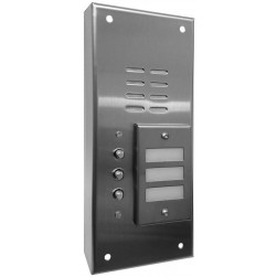 Alpha VI642S03 3 Button Stainless Steel Economy Panel-Surface