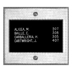 Alpha VIP006D 6 Name Directory Unit Stainless Steel