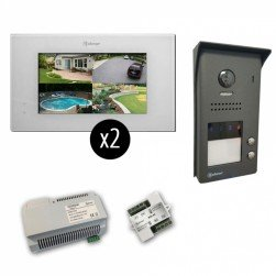 Alpha VKGB2-P7-2ES 2 Unit Touchscreen Video Entry Intercom Kit