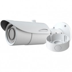 Speco VLBT6W 1080p HD-TVI Outdoor IR Bullet Camera with Junction Box, 2.8-12mm Lens, White Housing