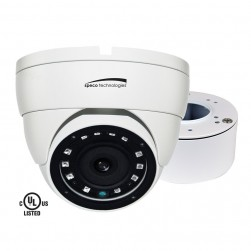 Speco VLDT4W 1080p HD-TVI/AHD/CVI Outdoor Analog Dome Camera, 3.6mm Lens