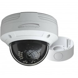 Speco VLDT5W 1080p HD-TVI Outdoor IR Dome Camera with Junction Box, 2.8mm Lens, White Housing