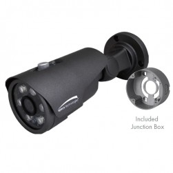 Speco VLT4BG 2592 x 1520 HD-TVI Outdoor IR Bullet Camera with Junction Box, 2.8mm Lens, Grey Housing