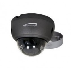 Speco VLT4DG 2592 x 1520 HD-TVI Outdoor IR Dome Camera with Junction Box, 2.8mm Lens, Grey Housing