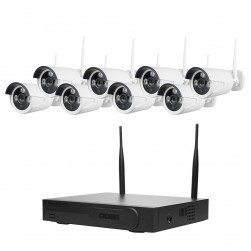 Cantek WIFI8B-2TB Unpack-N-Play 8 Bullet Camera WIFI HD NVR 2TB Kit