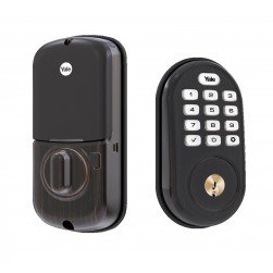 Yale YRD416-NR-0BP Push Button Deadbolt with Bluetooth