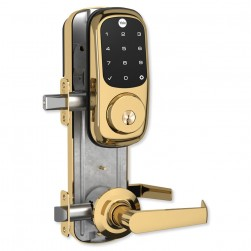 Yale YRC226ZW2NW5605 Assure Lock Interconnected Lockset with Touchscreen Deadbolt, Bright Brass