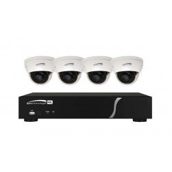 Speco ZIPL4D1 4 Channel NVR with 4 Channel Built-In PoE, 1TB 4 Full HD 1080p Outdoor IR Dome Cameras