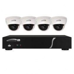 Speco ZIPL84D2 8Ch NVR System w/4 Dome Cameras, 2TB