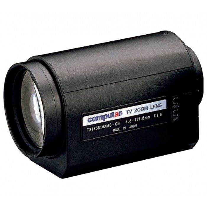 Computar T21Z5816MSP 1/3-in 21X Motorized Zoom Lens (CS-Mnt)