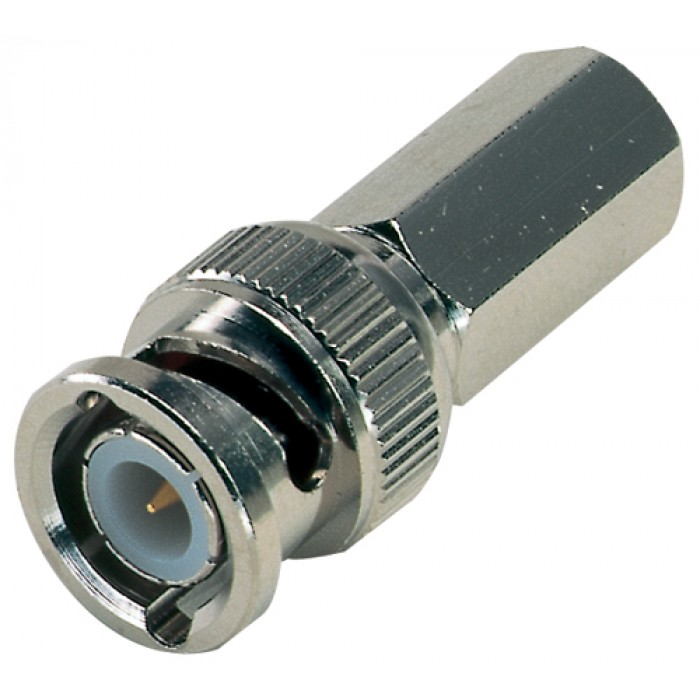 Male BNC Twist-on Connector, Nickel
