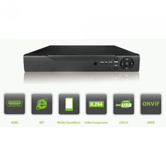 ZKAccess GT-NR1601 16-Ch Embedded Network Video Recorder