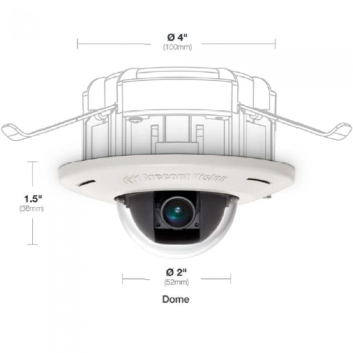 Arecont Vision AV3455DN-F In-ceiling Mount View