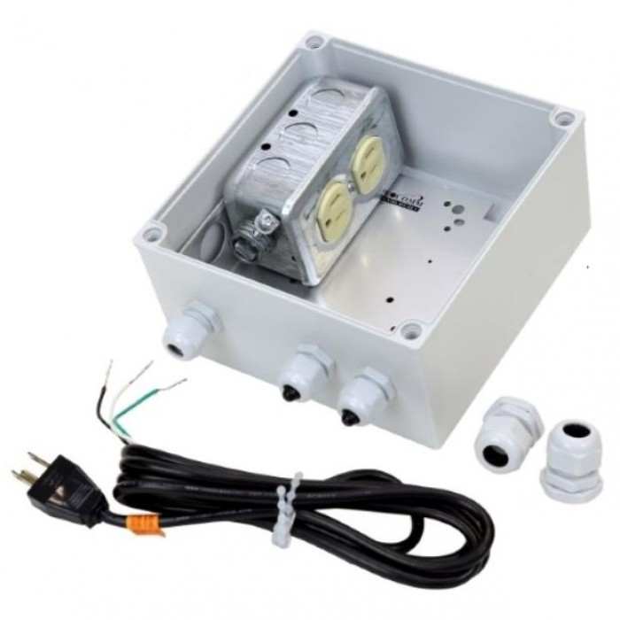 Videocomm Tco Ip67j120 Duplex Polewall Mount Electrical Junction Box