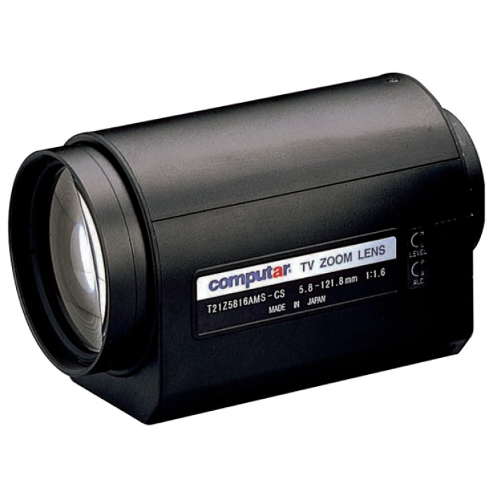Computar T21Z5816MP 1/3-in 21X Motorized Zoom Lens (CS-Mnt)