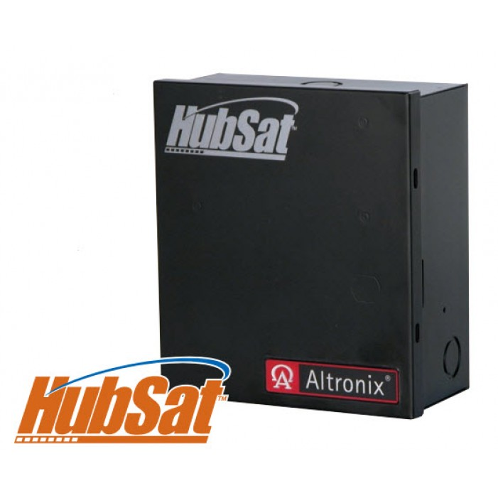 HubSat4Di (4) Channel UTP Transceiver Hub w/ Integral Isolated Power
